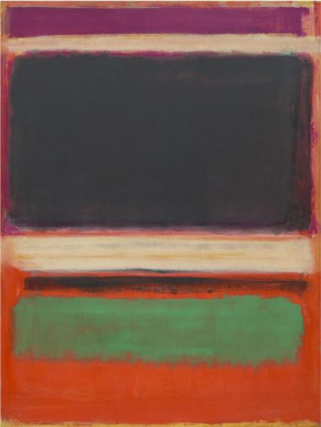 マーク・ロスコ《No.3/No.13 (Magenta, Black, Green On Orange)》(1949年)