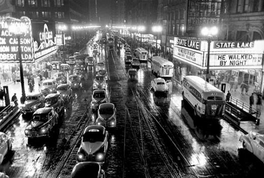 1949年に『Look』誌に掲載されたシカゴの道路を撮影した写真。(Stanley Kubrick: Visual Poet 1928-1999より)