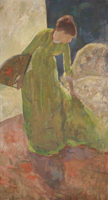 《扇子を手に持ち立つ女性》1878-1879年