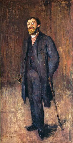 エドヴァンス・ムンク「画家カール・ジェンセン・ヘルの肖像」(1895年)