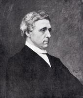 フーベルト・フォン・ヘルコマーによる写真をもとにした死後のルイス・キャロルの肖像。