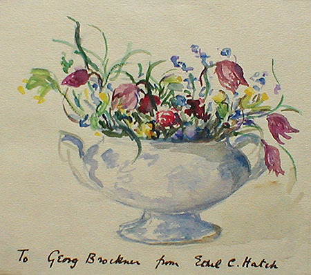 《floral still life with teapot》1920年