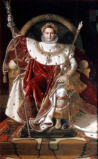 アングル『玉座のナポレオン1世』(1806年)