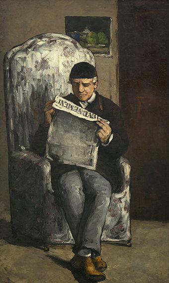 "《The Artist's Father, Reading ""L'Événement""》1866年"