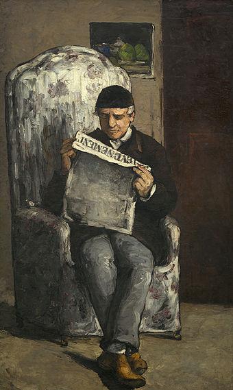 """《The Artist's Father, Reading """"L'Événement""""》1866年"""
