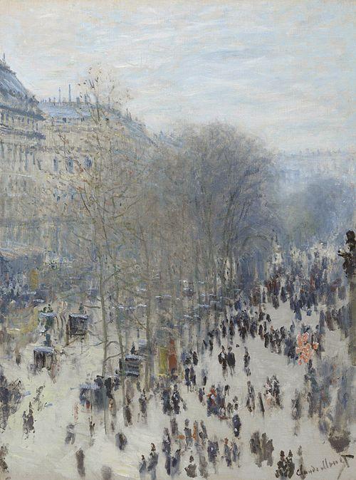 《キャピュシーヌ大通り》1873-1874年