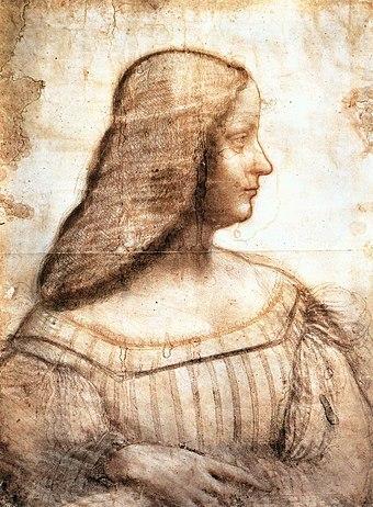 《イザベラ・デステの肖像》1500年