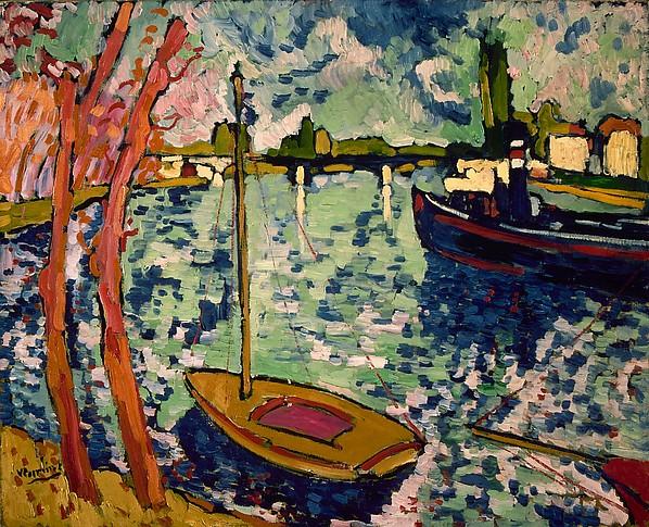 モーリス・ド・ブラマンク「シャトーのセーヌ河」(1906年)