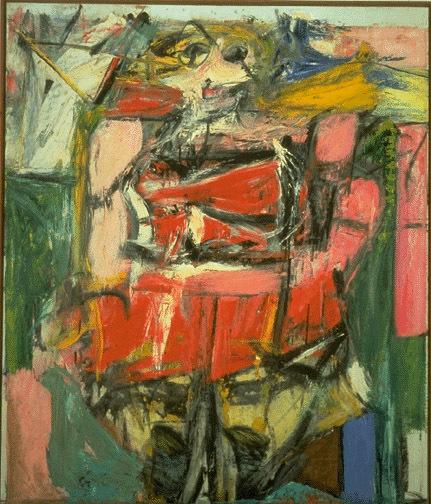 ウィレム・デ・クーニング「女性6」(1950-1952年)