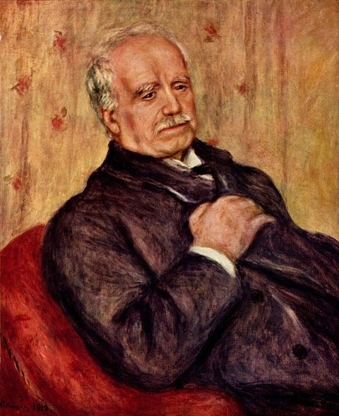 オーギュスト・ルノワール「デュラン=デュエルの肖像画」