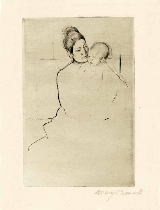 《母親に抱えられたガードナー》1887年
