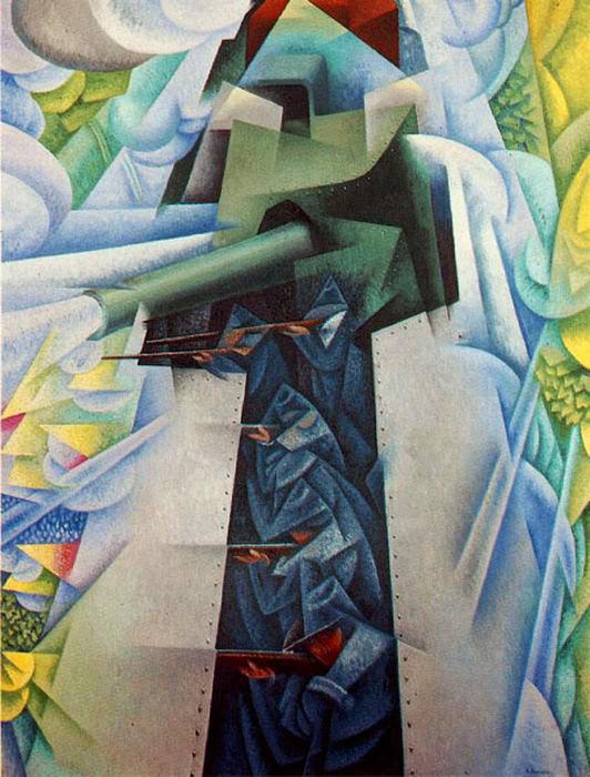 ジーノ・セヴァリーニ「装甲列車」(1915年)