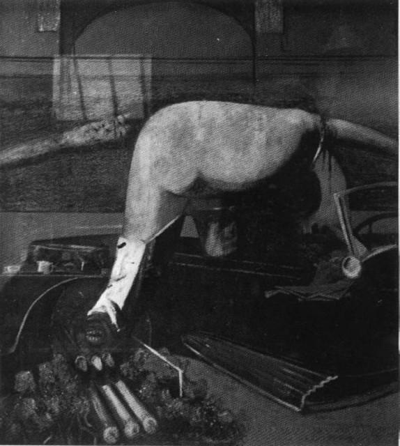 「車から抜け出す人」(1939-1940)