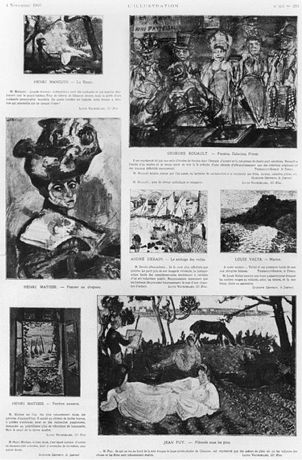 Les Fauves: Exhibition at the Salon d'Automne, in L'Illustration, 4 November 1905