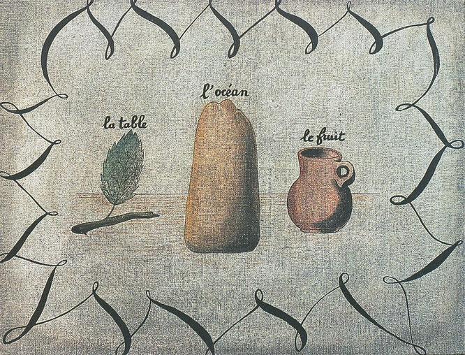 ルネ・マグリット「テーブル、海、果物」(1927年)