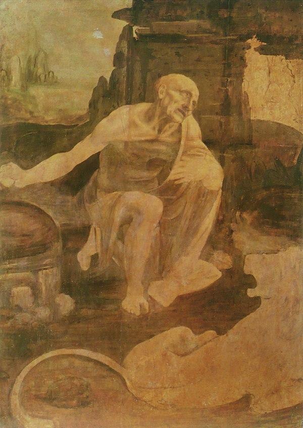 《荒野の聖ヒエロニムス》1480年