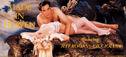《メイド・イン・ヘブン》主演・ジェフ・クーンズ、チッチョリーナ(1989年)。ジェフ・クーンズ公式サイトより