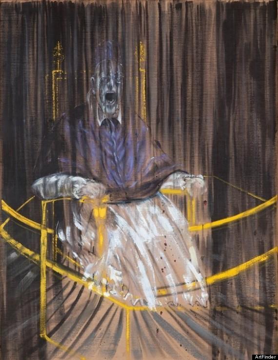 フランシス・ベーコン《ベラスケスによるインノケンティウス10世の肖像画後の習作》1953年,Wikipediaより