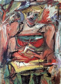 ウィレム・デ・クーニング「女性5」(1952-1953年)