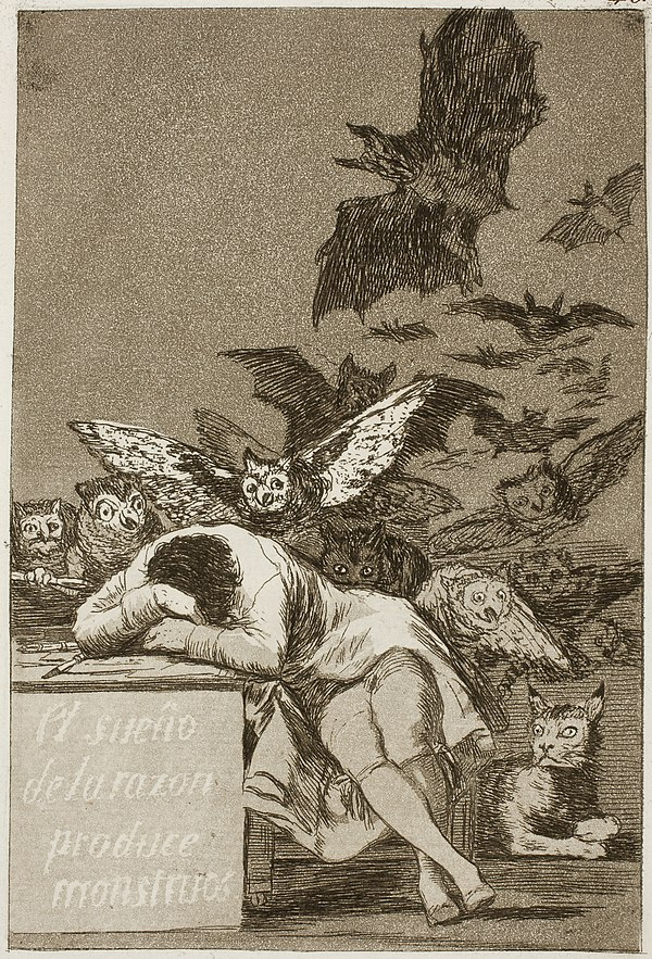 《理性の眠りは怪物を生む》1797-1797年