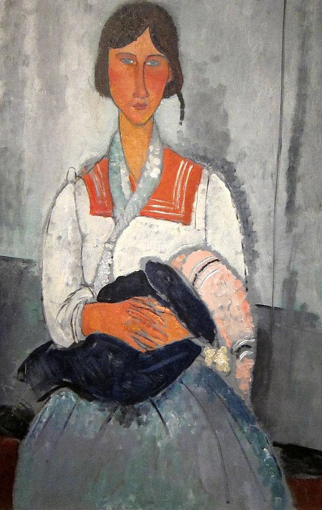 アメディオ・モディリアーニ「子供とジプシー女」(1912年)