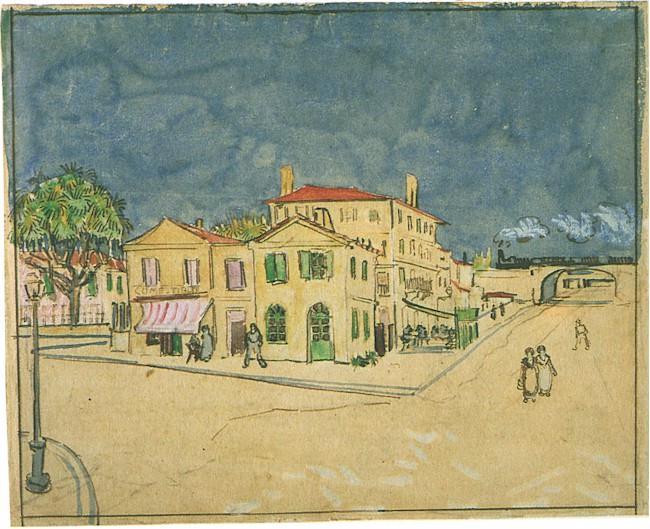 ゴッホによる「黄色い家」の水彩画版。