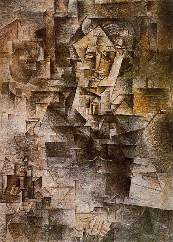 パブロ・ピカソ「カーンワイラーの肖像」(1910年)