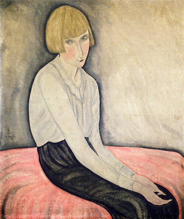 《ピンクのカナッペと少女》1918年