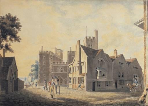 《ランベスの大主教宮殿の風景》1790年