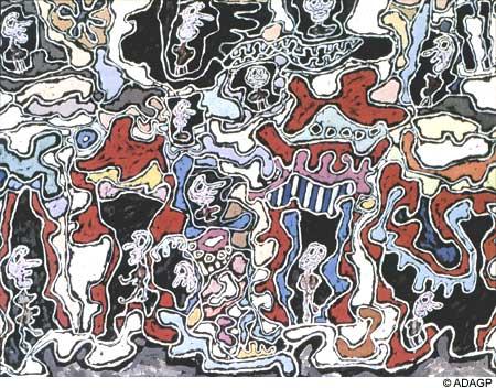 ジャン・デビュッフェ「Rue De L'Entourloupe」(1963年)