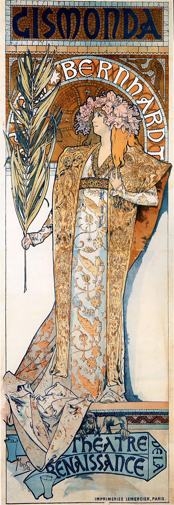 『ジスモンダ』は1894年にアルフォンス・ミュシャによって制作されたポスター。ミュシャが初めて制作したポスターであり、ミュシャの出世作。