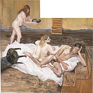ルシアン・フロイド《After Cézanne》 1999〜2000年,Wikipediaより