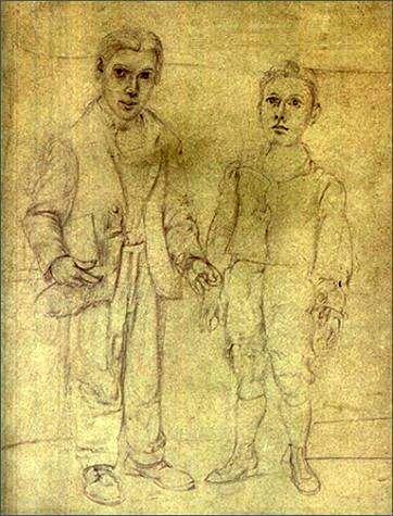 ウィレム・デ・クーニング『想像上の兄弟とのセルフポートレイト』(1938年)