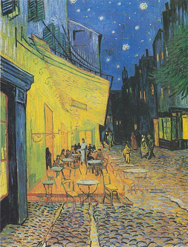 ヴィンセント・ヴァン・ゴッホ「夜のカフェテラス」(1888年)