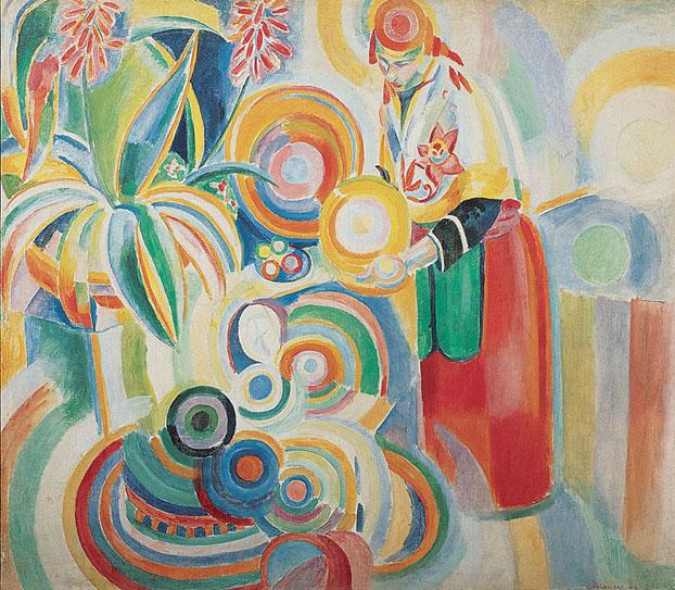 ロバート・ドローネー「ポルトガルの女性」(1916年)