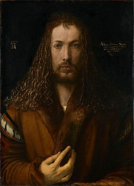 デューラー《28歳のときの自画像》,1500年