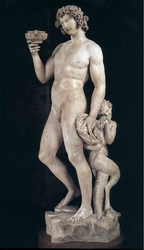ミケランジェロによる『バッカス』。 バルジェッロ美術館所蔵。