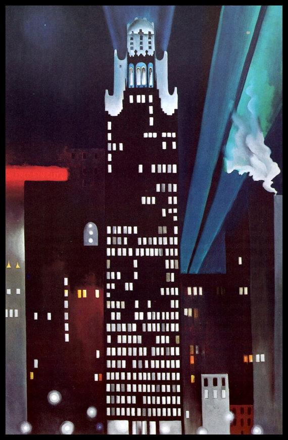 《ラジエーター・ビルディング-ニューヨークの夜》1927年