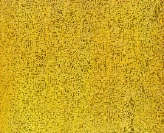 「無限の網 イエロー」1960年 フランク・ステラ所蔵