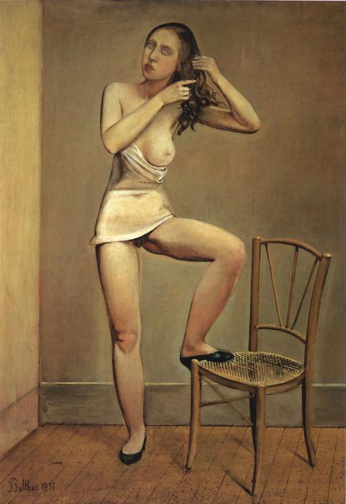 バルテュス《鏡の中のアリス》1933年