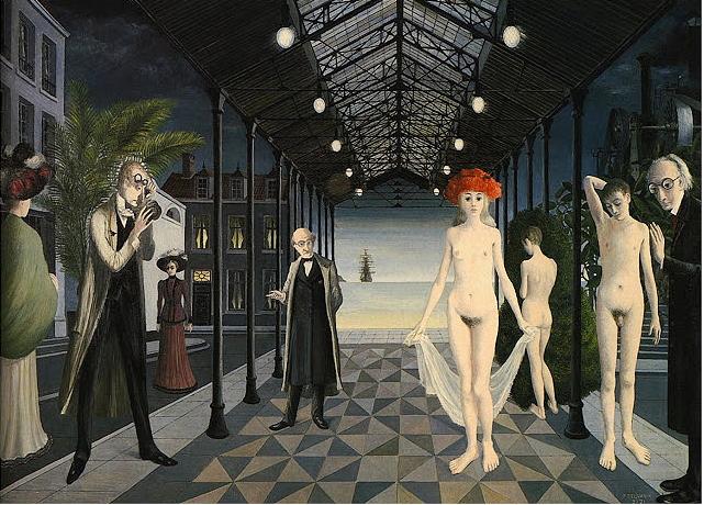 ポール・デルヴォー《ジュール・ベルヌへのオマージュ》1971年