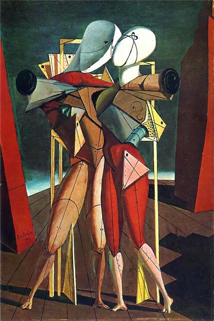 ジョルジョ・デ・キリコ「ヘクトルとアンドロマケ」(1917年)