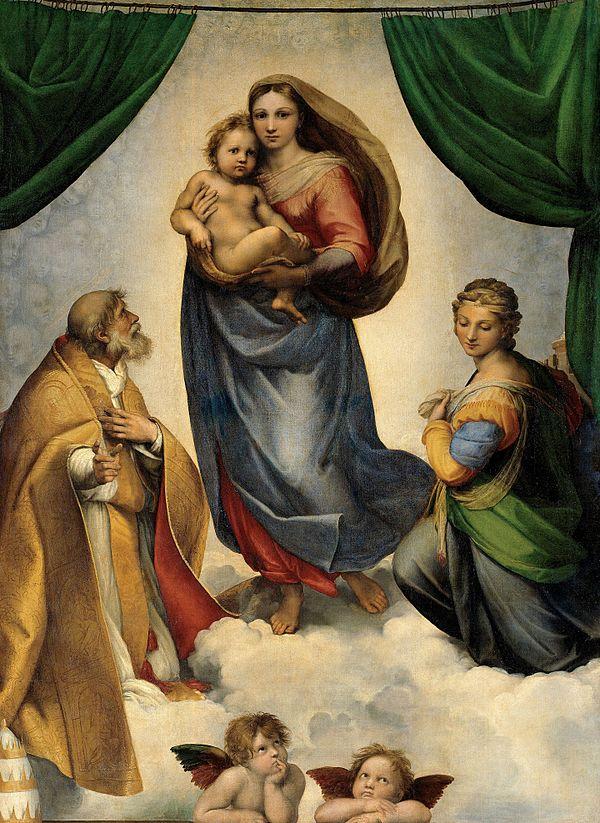 《システィーナの聖母》1513年 - 1514年頃