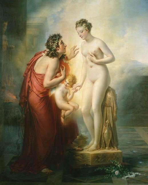 アンヌ=ルイ・ジロデ=トリオゾン(en)『ピュグマリオンとガラテア』(1819年)