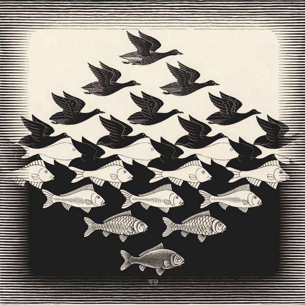 「空と水 1」1938年