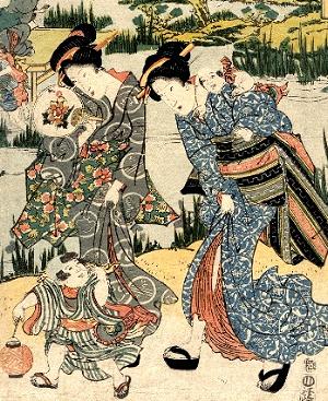 「今様蛍狩りの図(部分)」渓斎英泉