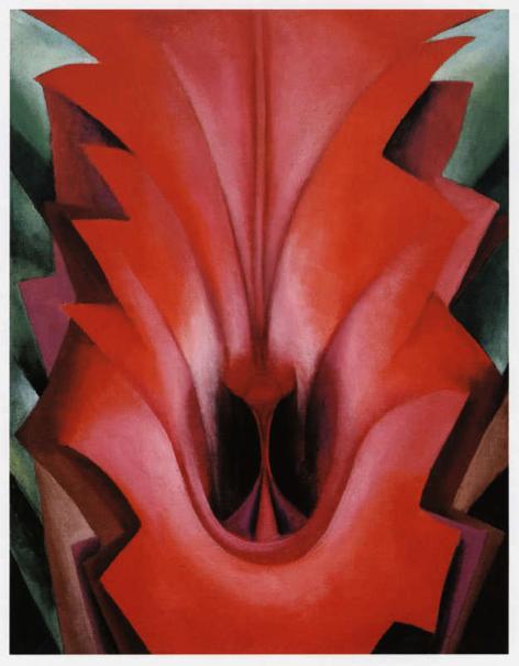 ジョージア・オキーフ「レッドカンナ」(1919年)