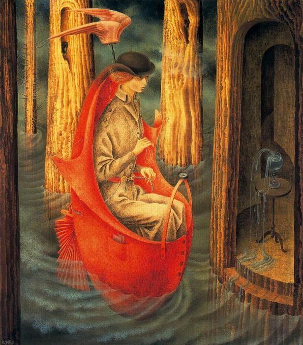 レメディオス・バロ「オリノコ川の探査」(1959年)