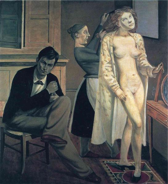 バルテュス「キャシーの化粧」(1933年)