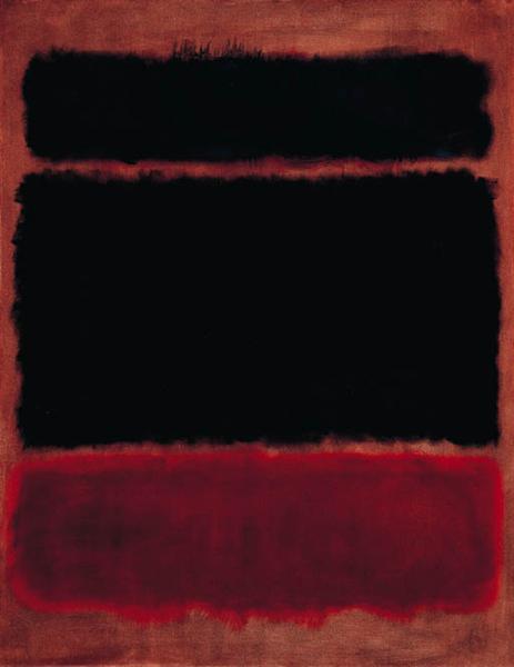 マーク・ロスコ《Black In Deep Red》(1957年)